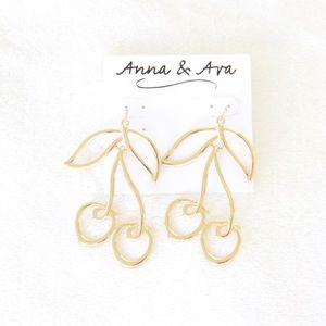 Anna & Ava Gold Cherry Earrings